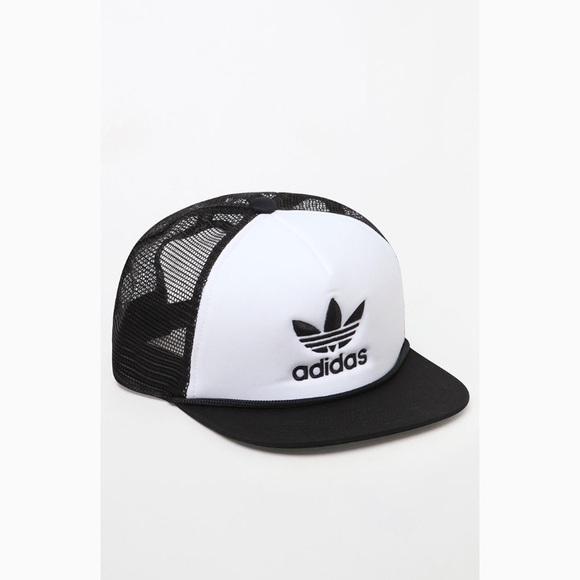 b140186244d1d Adidas Originals trefoil snapback trucker hat NWT NWT